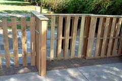 Забор и калитка из поддонов