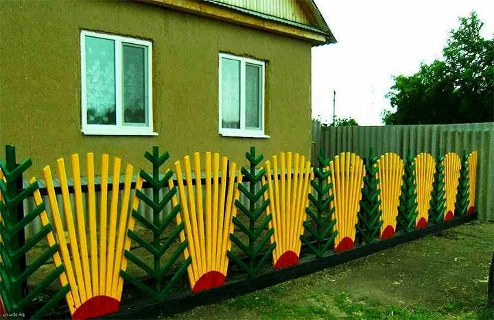 Декоративный заборчик для палисадника
