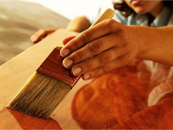 Покрытие древесины Олифой