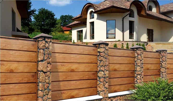 Комбинированный забор для дачи