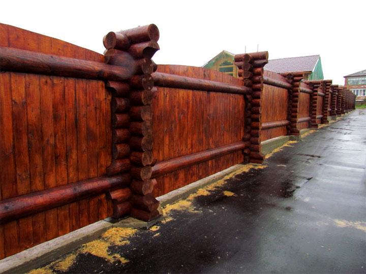забор из круглых бревен фото хотят