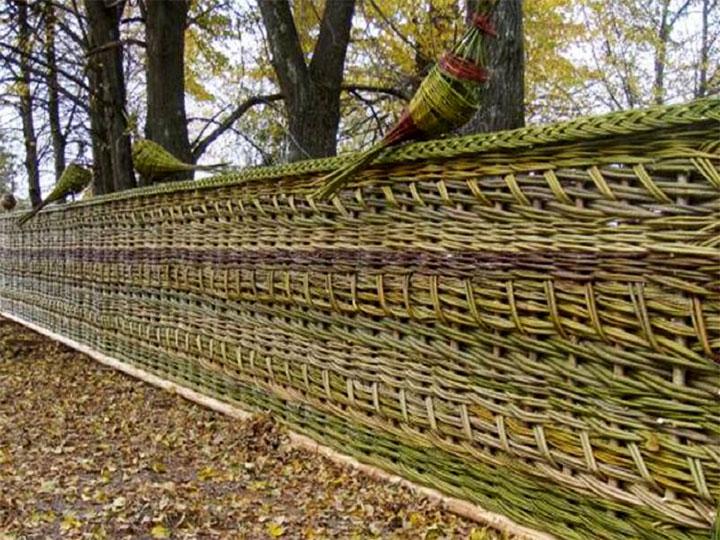 Плетень для дачи