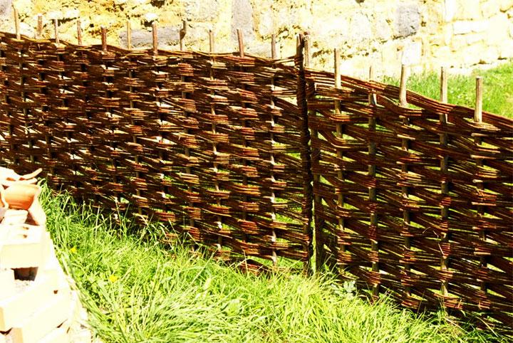 Плетенная ограда