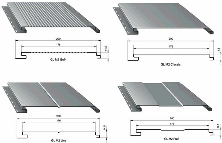 металлосайдинг размеры ширина длина панели