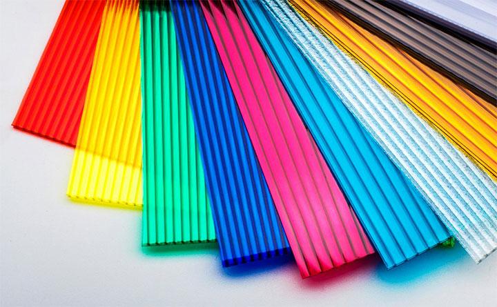 Цветовая палитра листов поликарбоната
