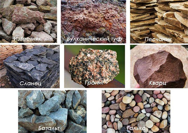 Виды камней для габиона