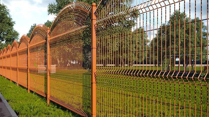 Забор из 3D-сетки