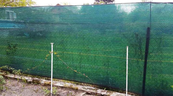 Ограждение территории затеняющей сеткой