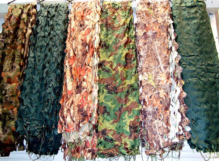Образцы маскировочной сетки