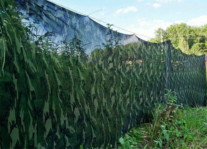 Ограда в стиле милитари