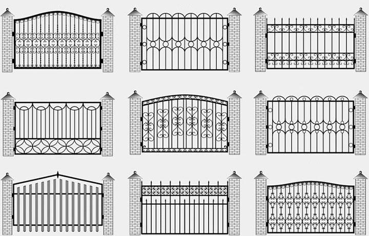 Варианты кованных секций для ограды