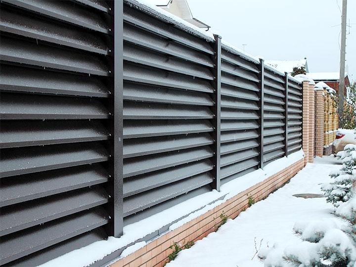 Забор-жалюзи из металла