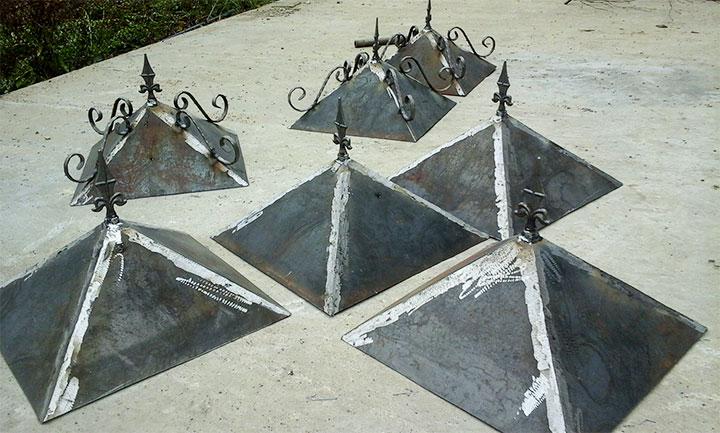 Самодельные колпаки для столбов