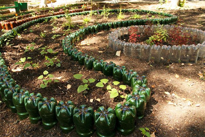 Декоративное зонирование огорода