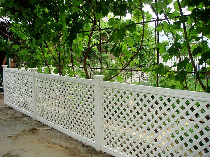 Пластиковая ограда для садовых посадок