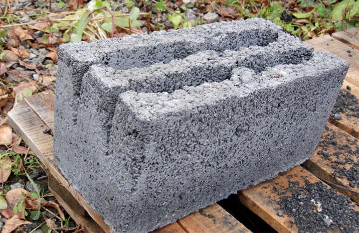 Строительный блок из керамзитобетона