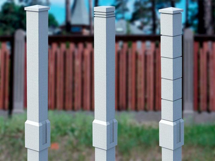 Варианты конструкций столбов