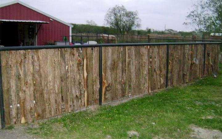 Дачный забор из обапола