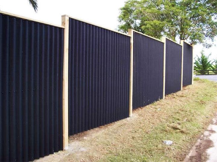 Забор из плоского шифера фото варианты