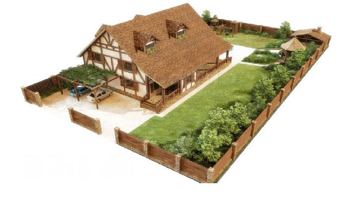 3d-проект частного дома