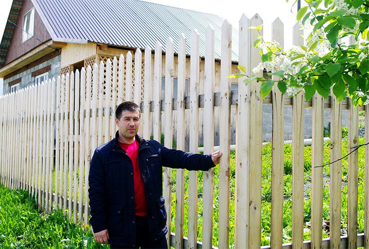 Ограда для частного дома