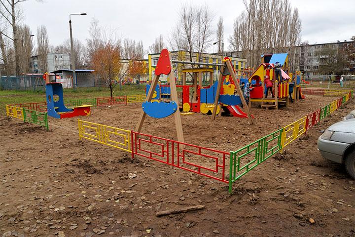 Ограждение для детской площадки из металла