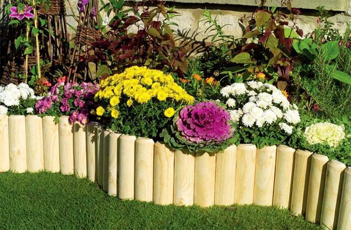 Заборчик для цветника из дерева