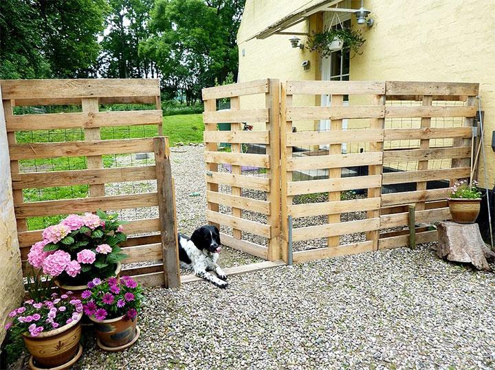 Дешевый забор из паллет