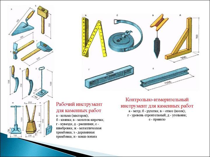 Инструмент для каменных работ