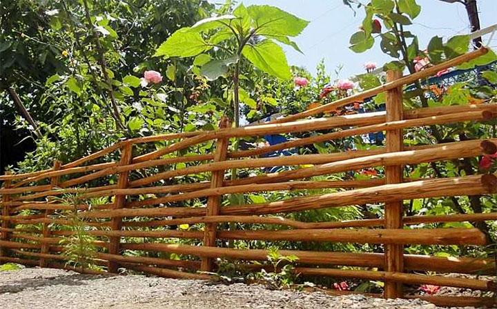 Плетень – ограждение для сада
