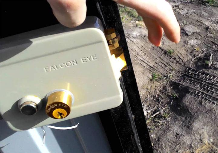 Замок для калитки Falcon Eye