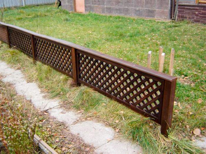 Декоративный решетчатый забор