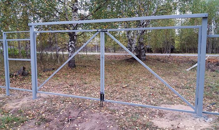 Каркас ворот из профильной трубы