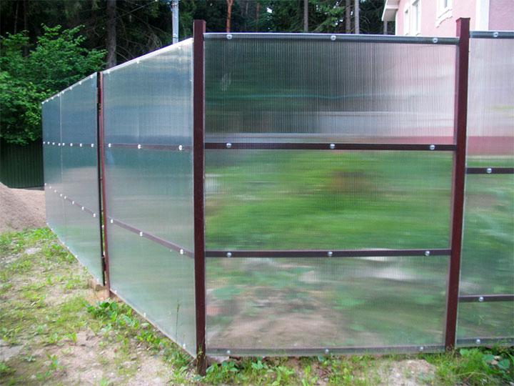 Ограда из прозрачного поликарбоната
