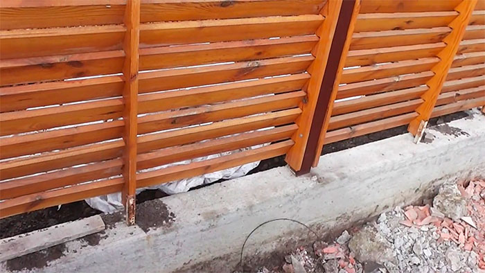 Забор – елочка