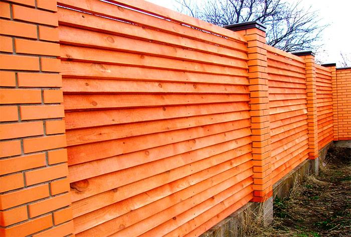 Забор жалюзи из доски