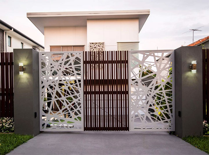 Дизайн ворот в стиле модерн