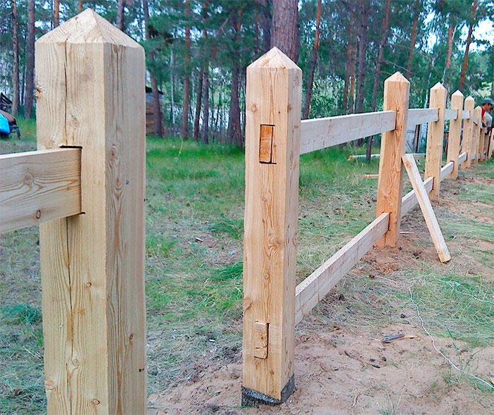 Каркас для деревянного забора