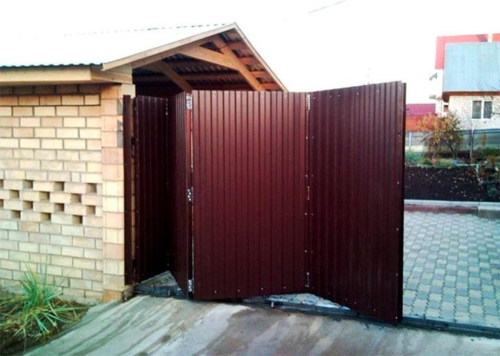 Складные ворота (гармошка)