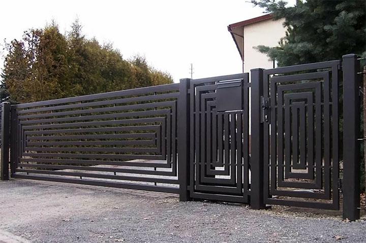 Ворота в стиле лофт