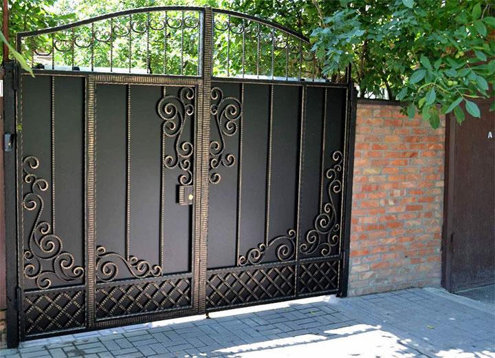 Ворота с встроенной калиткой