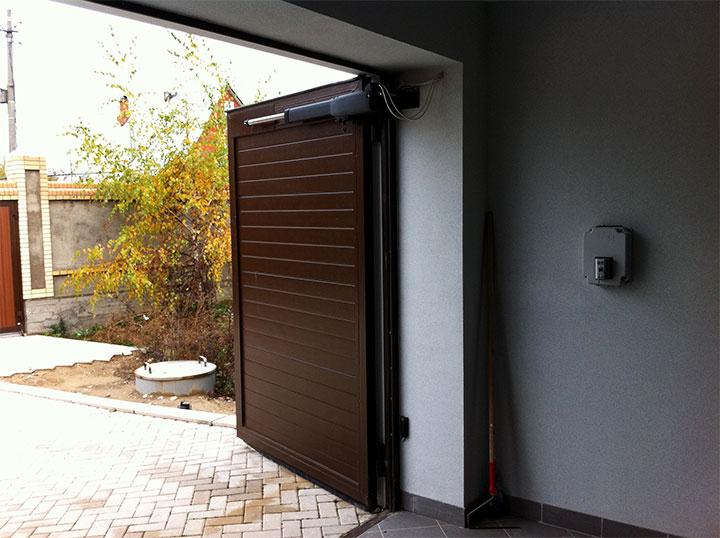 Автоматические распашные ворота для гаража