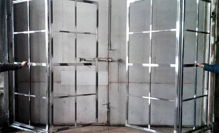 Каркас ворот-гармошки для гаража