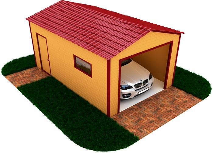 Проект гаража для одного автомобиля