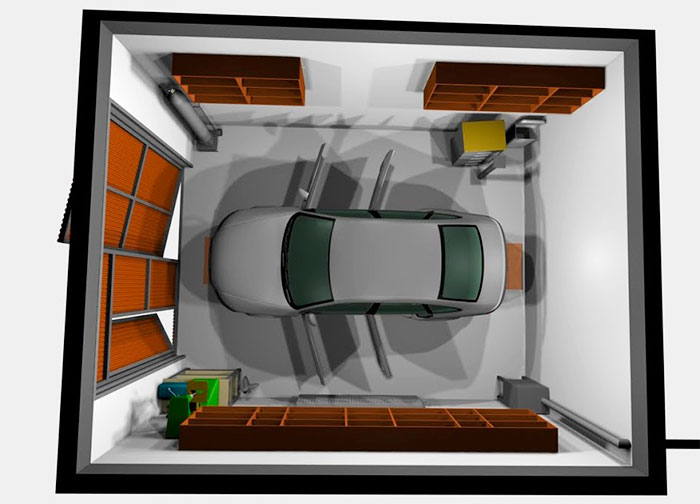 Размещение машины в небольшом гараже
