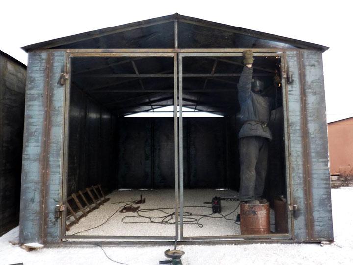 Сборка и сварка металлического гаража