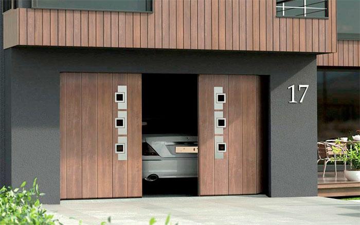 Откатные ворота для гаража в частном доме