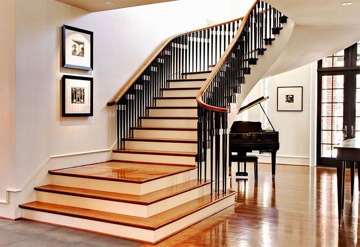 Высота перил на лестнице