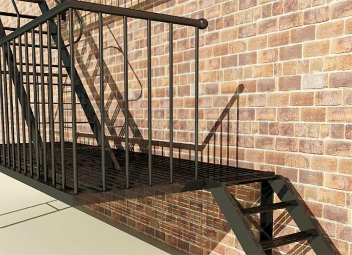 Стандартная высота установки перил на лестнице