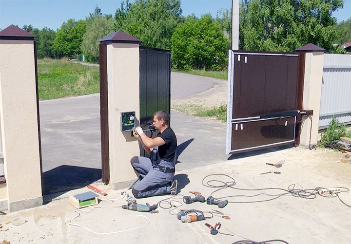 Монтаж автоматики на распашные ворота